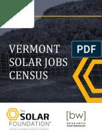 Vermont Solar Jobs Census 2015