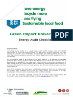 Green Impact Audit Checklist UoL