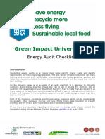 Green Impact Audit Checklist UoL