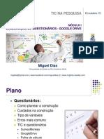 Tics Na Pesquisa Qualitativa - Módulo i - Elaboração de Questionário - Google Drive