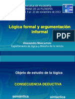 Lógica Formal y Argumentación Informal