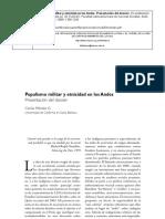Populismo militar y etnicidad en los Andes