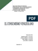 Consumismo en Venezuela.