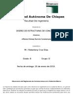 Observancia Del Reglamento de Construcciones en La Ciudad de México