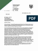 Ministry order letter Feb. 5, 2016