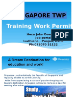 Apply Training Work Permit (TWP) in SINGAPORE | EUROPEANOVERSEAS