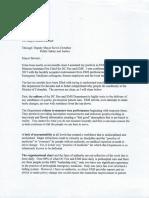 Dr. Jullette Saussy Resignation Letter, Courtesy AP