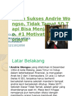 Kisah Sukses Andrie Wongso, Tidak Tamat SD