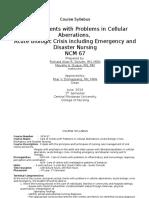 NCM 67 Lecture Syllabus