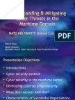 Understanding & Mitigating Cyber Threats in the Maritime Domain - NATO NMIOTC June 2015