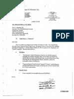 October 19, 2001 Letter