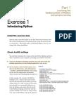 Python Exercises for Arcgis