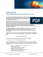 Master Online CampusMVP - Desarrollador Aplicaciones Web Front-End - 2ª Edición - 2016