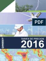 201602 Ingesco Tarifa Precios 2016 Interactivo Esp