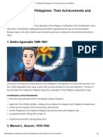 Presidents of the Philippines_ Their Achievements and Contributions