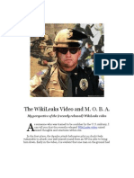 The WikiLeaks Video and M. O. B. A.