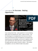 The Secret to Success - Seizing Opportunity