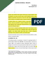 Os Estudos Ciganos No Brasil 1885-2010 - Frans Moonen