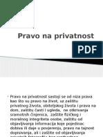 Pravo Na Privatnost