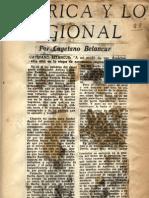 Cayetano B., América y lo regional, Ahora, feb. 10, 1951