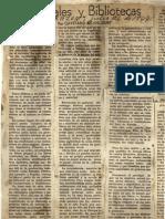 Cayetano Betancur, Intelectuales y Bibliotecas, La Razón, julio 26, 1947