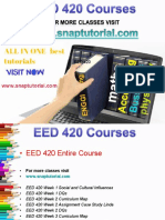 EED 420 Academic Success/snaptutorial