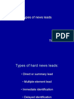 Types of News Leads