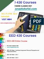 EED 430 Academic Success/snaptutorial