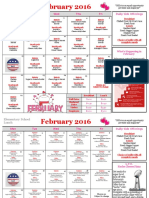February Elementary School Calendar
