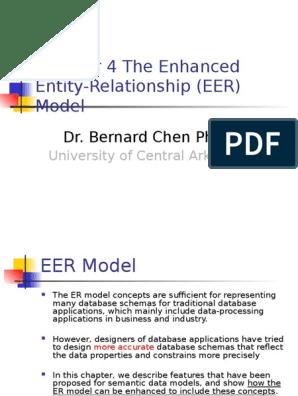 The Enhanced Entity-Relationship (EER) Model | Inheritance