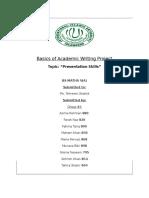 Basics of Academic Writing Project