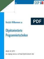 Objektorientierte Programmiertechniken