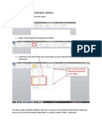 Inserting a Draft Watermark in MS