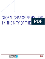 Global Change Pressures in the City of the Future