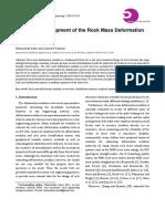 Empirical Development of the Rock Mass Deformation