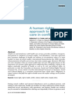 Human Rights Approach Health Care in Conflict