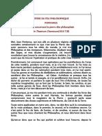 Pontanus-Epitre Du Feu Philosophique