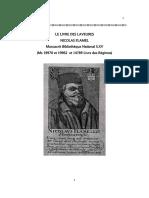 Nicolas Flamel-Le Livre Des Lavures