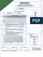 Certificado de Calidad Eslinga Tejida Tipo VIII