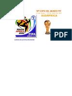 Fixture Sudafrica 2010