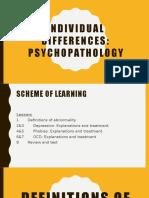 psychopathology- definitions