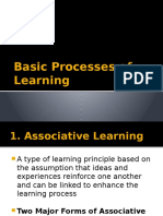 Basic Processes of Learning (1)