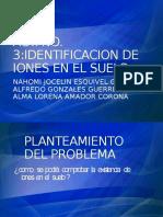 identificacion de iones en el suelo
