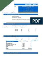 Liquidacion de Beneficios Sociales en Excel