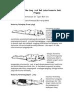 Mendapatkan Tidur Yang Lebih Baik Untuk Penderita Sakit Pinggang