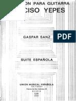 Suite Española Gaspar Sanz Yepes