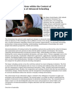 Difficulties and Options within the Context of Internationalization of Advanced Schooling