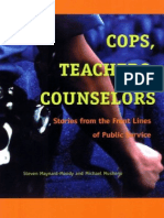 Cops Teachers Counselors by Steven Maynard Moody