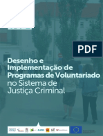 Desenho e Implementação de Programas de Voluntariado no Sistema de Justiça Criminal