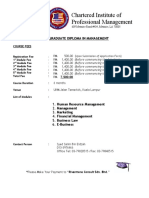Graduate Diploma CIPM